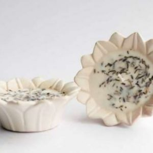 LJC Ceramic Lotus (Paraffin Wax) (Set of 2)